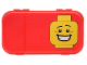 Gear No: 499188  Name: Minifigures Storage Case with Grinning Minifigure Head Pattern