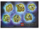 Gear No: 5002941stk01  Name: Sticker Sheet, Bionicle Gold Masks, Sheet of 6 Stickers