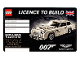 Gear No: 5005665  Name: Licence to Build - James Bond Aston Martin DB5 10262 (License)