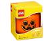 Gear No: 5005886  Name: Minifigure Head Storage Container Small - Pumpkin Jack O'Lantern #2