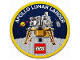 Gear No: 5005907  Name: Patch, Sew-On Cloth Round, Apollo Lunar Lander