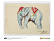 Gear No: 5005997  Name: 1st Edition Elephant Water Colour Print, Circa 1937