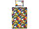 Gear No: 5055285345303  Name: Bedding, Duvet Cover and Pillowcase (135 x 200 cm) - Classic Bricks