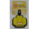 Gear No: 51168  Name: Bag / Luggage Tag, Silicone, Lego Minifigure Head, Girl