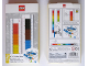 Gear No: 51498  Name: Ruler, Buildable Ruler - Multicolor Plates with Blue Baseplates