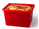 Gear No: 5711938027292  Name: Storage Box, Ninjago, Red with Lid - Large