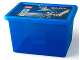 Gear No: 5711938027308  Name: Storage Box, Nexo Knights, Blue with Lid - Large