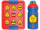 Gear No: 5711938030469  Name: Lunch Box Set, Iconic with Drinking Bottle, Minifigure Heads