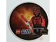 Gear No: 6012301  Name: Sticker, Star Wars Lenticular Round - Shirtless Darth Maul