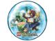 Gear No: 6031639  Name: Sticker, Legends of Chima Round Lenticular - Club Magazine Australia/New Zealand