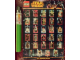 Gear No: 6085881  Name: Star Wars 2014 Minifigure Gallery Poster in Lightsaber Shaped Cardboard Tube