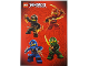 Gear No: 6111947  Name: Sticker, Ninjago Masters of Spinjitzu, Sheet of 4