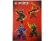 Gear No: 6111947  Name: Sticker, Ninjago Masters of Spinjitzu, Sheet of 4