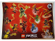 Gear No: 6166709  Name: Sticker Sheet, Ninjago Masters of Spinjitzu, Battle Stickers, Sheet of 13