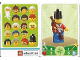 Gear No: 6187245  Name: Education Set 45023 Game Card 18 - Soldier with Backpack