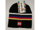 Gear No: 713806  Name: Hat, Knit Cap with Stripes and LEGO Logo Pattern
