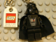 Gear No: 850353  Name: Darth Vader Key Chain with Lego Logo Tile, Modified 3 x 2 Curved with Hole
