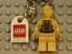 Gear No: 850356  Name: C-3PO Key Chain with Lego Logo Tile, Modified 3 x 2 Curved with Hole