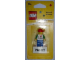 Gear No: 850760  Name: Magnet Set, I Brick Paris LEGO Minifigure, Lego Store So-Ouest, Levallois-Perret, France - Glued with 2 x 4 Brick Base blister pack