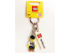 Gear No: 850761  Name: Minifigure Male with Lederhosen Key Chain with Lego Logo Tile, Modified 3 x 2 Curved and Tile 2 x 4 with 'GERMANY' Pattern