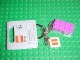 Gear No: 851025  Name: 2 x 4 Brick - Light Purple Key Chain with 2 x 2 Square Lego Logo Tile