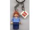 Gear No: 851026  Name: Mary Jane 4, Medium Blue Sweater Key Chain with 2 x 2 Square Lego Logo Tile