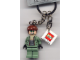 Gear No: 851028  Name: Dr. Octopus / Doc Ock, Sand Green Jacket, Sand Green Legs, Clenched Teeth Key Chain with 2 x 2 Square Lego Logo Tile