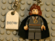 Gear No: 851031a  Name: Hermione Key Chain with Tile, Modified, 3 x 2 Curved with Harry Potter Logo