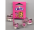 Gear No: 851177  Name: Hair Tie, Clikits - Pink with Heart Icons