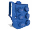 Gear No: 851903  Name: Backpack Brick Shape with Zippered Studs, Blue