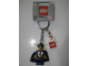 Gear No: 851945  Name: Viking Chieftain Blue Key Chain with Lego Logo Tile, Modified 3 x 2 Curved with Hole