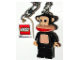 Gear No: 852023  Name: Paul Frank Julius & Friends Key Chain with Lego Logo Tile, Modified 3 x 2 Curved with Hole