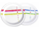 Gear No: 852084  Name: Food - Plates, LEGO Classic Stripes Pattern Melamine