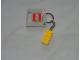 Gear No: 852095a  Name: 2 x 4 Brick - Yellow Key Chain