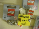 Gear No: 852095pb01  Name: 2 x 4 Brick - Yellow Key Chain with Lego Logo Tile, Modified 3 x 2 Curved with Hole - Lego World 2007 De Bouwsteen Pattern