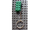 Gear No: 852096a  Name: 2 x 4 Brick - Green Key Chain