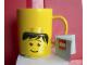 Gear No: 852215  Name: Food - Cup / Mug, Minifigure Head Male Pattern Yellow