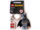 Gear No: 852314  Name: Batman, Dark Bluish Gray Suit Key Chain with Lego Logo Tile, Modified 3 x 2 Curved with Hole
