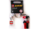 Gear No: 852315  Name: Harley Quinn Key Chain with Lego Logo Tile, Modified 3 x 2 Curved with Hole