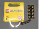 Gear No: 852445b  Name: 2 x 4 Brick - Chrome Gold Key Chain