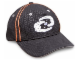 Gear No: 852498  Name: Ball Cap, Bionicle with Gray Stitched Bionicle Logo Pattern, Orange Trim