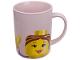 Gear No: 852674  Name: Food - Cup / Mug, Minifigure Head Female Pattern Pink