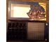 Gear No: 852750board  Name: Pirates Tic Tac Toe Game Board 16 x 16 Dark Bluish Gray Baseplate, Glued into Game Box