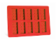 Gear No: 852768  Name: Food - Ice Cube Tray, Bricks (Red)
