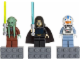 Gear No: 852947  Name: Magnet Set, Minifigures SW (3) - Kit Fisto, Barriss Offee, Captain Jag - with 2 x 4 Brick Bases blister pack
