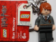 Gear No: 852955  Name: Ron Weasley Gryffindor Crest Key Chain with Lego Logo Tile, Modified 3 x 2 Curved with Hole