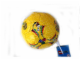 Gear No: 852960  Name: Ball, Inflatable Soccer Ball, Mini - Yellow, Figure in Red and White Design Pattern