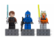 Gear No: 853037  Name: Magnet Set, Minifigures SW (3) - Anakin Skywalker, Senate Commando, Ahsoka - with 2 x 4 Brick Bases blister pack