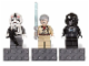 Gear No: 853126  Name: Magnet Set, Minifigures SW (3) - AT-AT Driver, Ben Kenobi, Tie Fighter Pilot - Glued with 2 x 4 Brick Bases blister pack