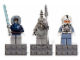 Gear No: 853130  Name: Magnet Set, Minifigures SW (3) Anakin Skywalker, Talz Chieftain, Clone Pilot - Glued with 2 x 4 Brick Bases blister pack